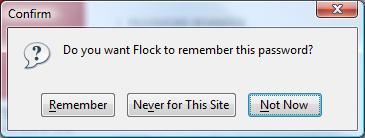 Flock Password Confirmation